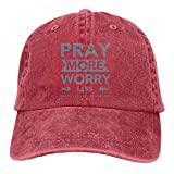 Best Graphics and More Bills - Pray More Worry Less Unisex Baseball Caps Denim Review