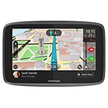 TomTom Car Sat Nav GO 6200, 6 Inch with Handsfree Calling, Siri, Google Now, Updates via WiFi, Lifetime Traffic via SIM Card and World Maps, Smartphone Messages, Capacitive Screen, Black