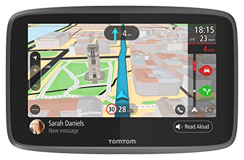 TomTom Car Sat Nav GO 6200, 6 Inch with Handsfree Calling, Siri and Google Now, Updates via Wi-Fi, Lifetime Traffic via SIM Card and World Maps, Smartphone Messages, Capacitive Screen