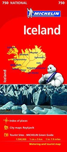 Mapa National Iceland (Mapas National Michelin) por MICHELIN