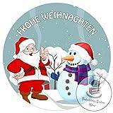 Tortenaufleger Tortenbild Weihnachten Weihnachtsmann Wunschtext 20 cm Ø TA1109
