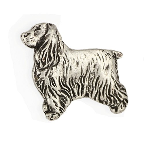 English Cocker Spaniel, Silver Hallmark 925, Pin Art-Dog
