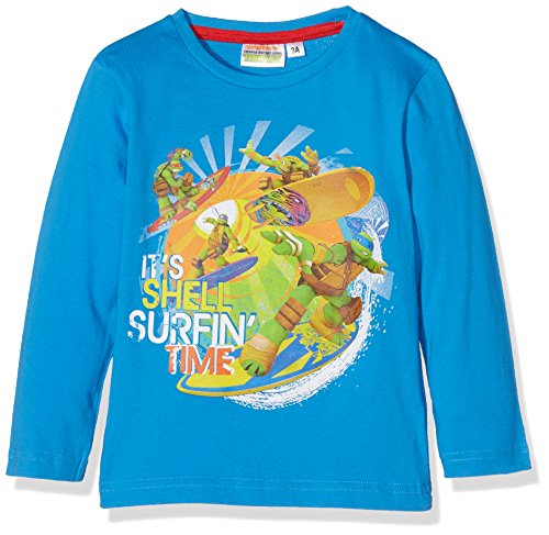 Sun City FR Jungen T-Shirt Ninja Turtles, Blau (Bleu 18-4247TC), 2-3 ()