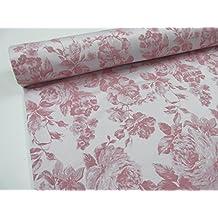 Confección Saymi - Metraje 0,50 mts. tejido Jacquard Cretonas Ref. Mónaco, color Rosa, con ancho 2,80 mts.