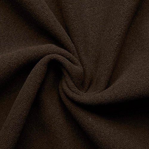 Hannah - Lana, Cashemira - Mantas, cortinas, Edad Medieval - Por metro - 10 colores (marrón tierra)