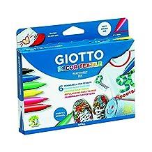 Giotto Decor Tekstil Boyası Askılı Paket 6'lı