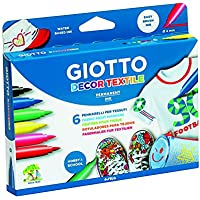Giotto- Decor Pack de 6 rotuladores, Colores Surtidos, Multicolor (4948)