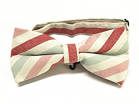 GKONGU Red Stripes Mens Bow Tie Suitable For Party Shows Wedding Ties