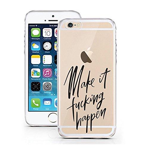 Blitz® FOYER motifs housse de protection transparent TPE caricature bande iPhone work hard M13 iPhone 8 8s Make it M6