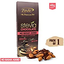 Zevic Roasted Almonds with Stevia, 40 gm