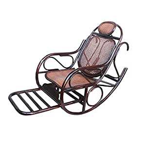naturel bambou rotin osier rocking chair chaise bascule fauteuil bascule longue relax. Black Bedroom Furniture Sets. Home Design Ideas