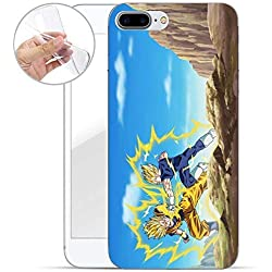FINOO Dragonball Serie 02 Silicone Dragonball Iphone 7 Plus/8 Plus - Goku vs Majin Vegeta, Iphone 7 Plus/8 Plus