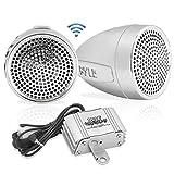 Pyle 300 Watt 2-Kanal-Verstärker mit Micro Kabelbaum 2,25-Zoll-Lautsprecher, Paar Klemmen