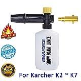 Karcher K-Series - Pistola de espuma de nieve para cañón y generador de espuma, boquilla de espuma/jabón de jabón de lavado para arandela de alta pres