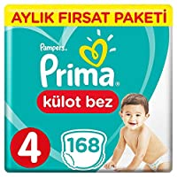 Prima Pants Külot Bebek Bezi 4 Beden Maxi, Beyaz