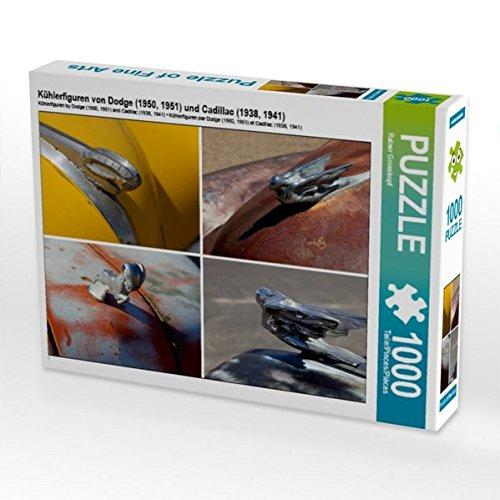Kühlerfiguren von Dodge (1950, 1951) und Cadillac (1938, 1941) 1000 Teile Puzzle quer