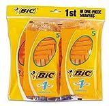 BiC–Rasoir jetable monolame pour homme - formule peau sensible - 8paquets de 5