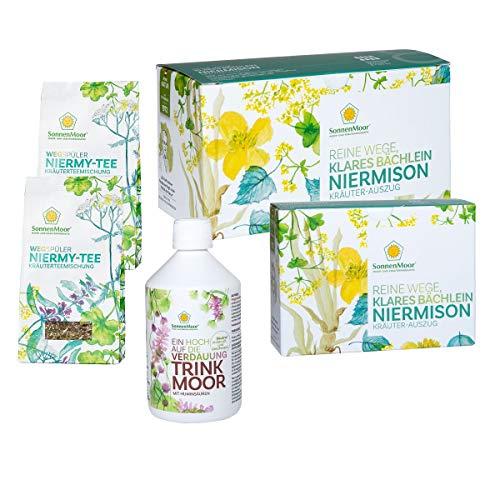 Sonnenmoor Blase-Nieren-Harnwege Kur zum Einnehmen - bestehend aus Trinkmoor 500 ml + Kräuterauszug Niermison 1100 ml + Niermy- Tee 100 gr