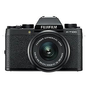"""Fujifilm X-T100 w/XC15-45mm Lens Kit Black Mirrorless Digital Camera with 3.0"""" TFT LCD"""