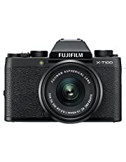 "Fujifilm X Series X-T100 w/XC15-45mm Lens Kit Mirrorless Digital Camera with 3.0"" TFT LCD (Black)"