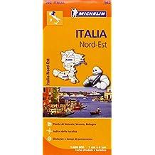 Carta stradale. Italia Nord est