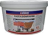 Fassadenfarbe inkl. 4x 5m Abdeckfolie (Fassadenfarbe weiss 15 Liter)