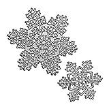 Lazzboy Stencil Cutting Dies Metal Die Paper Card Arts Hand Craft Decorative for Sizzix Big Shot/Other Machines(M, Snowflake-2)