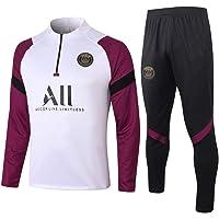 Znesd Tuta da Calcio da Uomo Trainsuit Giacche da Calcio a Roma Set Set di Giacche da Corsa a Maniche Lunghe Survetenza Sport Sportswear