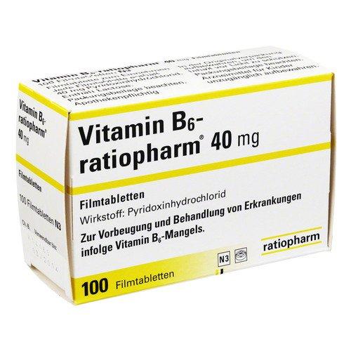 Vitamin B6 ratiopharm 40 mg Filmtabletten 100 stk