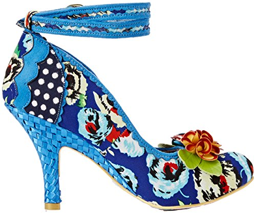 Irregular Choice - Day Dreamer, Strap alla caviglia Donna Blue (Blue Floral)