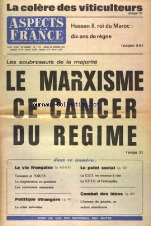 ASPECTS DE LA FRANCE [No 1171] du 25/02/1971
