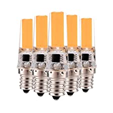 Lei ZE Jun UK 5pcs Dimmable 3W E122508COB 200–300LM cálida blanca decoración blanca fría de luz CA 220–240V/AC 110–130V (5pcs) E12led