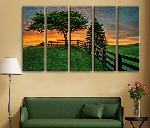 5-pcs-creative-green-grass-peinture-decorative-giclee-toiles-frameless-peintures-sur-toile-wall-art-
