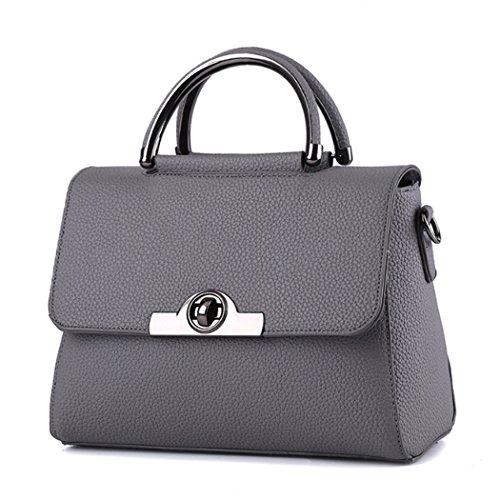 Borsa della borsa della borsa di Tote del sacchetto di spalla della nuova borsa delle donne Grigio scuro