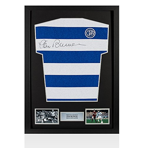 Framed-Stan-Bowles-Hand-Signed-QPR-Shirt-Home