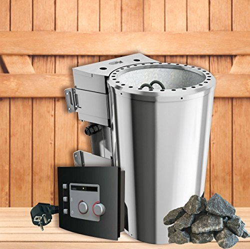 SudoreWell Karibu Bio-Kombiofen/Saunaofen 3,6 kW mit moderner Außensteuerung Plus Zubehör
