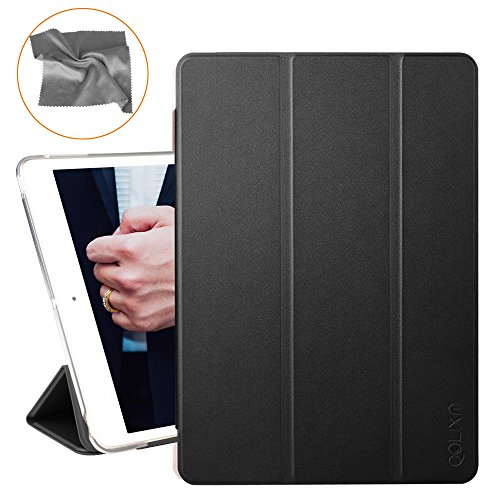 New-iPad-2017-iPad-97-inch-Case-Trifold-Stand-and-Auto-Wake-Sleep-with-Translucent-Frosted-Back-for-2017-Model-Ultra-Slim-and-Lightweight-by-QOLIXM