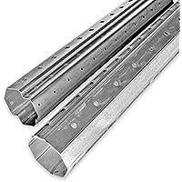 DIWARO Rolladenstahlwelle SW 60 Achtkant mit innenliegendem Falz Stahlwelle | SW60 | L/änge 1000 mm Wandst/ärke 0,6 mm