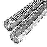 2,9 m Mini Achtkant Rolladenwellen Set SW 40 (Stahlwelle), individuell kürzbar, verzinkt, aussenliegende Falz, von EVEROXX