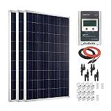 Giosolar 300W Solar-Panel, mit Solarpanel Photovoltaik-30-MPPT Solarladeregler für Wohnmobil, Wohnwagen, Camper, Boot/Yacht