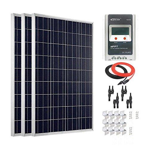Giosolar 300W Solar-Panel, mit Solarpanel Photovoltaik-30-MPPT Solarladeregler für Wohnmobil, Wohnwagen, Camper, Boot/Yacht (Camper Für Solar-panel-kit)