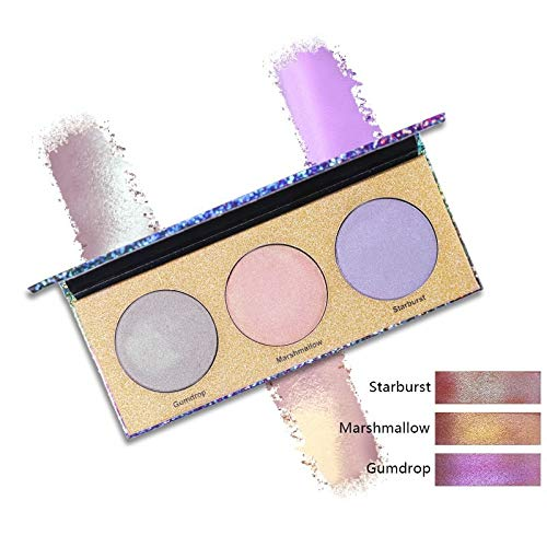 RSKD Lidschatten Eyeshadow 3 Farben Metallic Lidschatten-Palette Nude Duo Chrome Glow Kit Gesichtsbeleuchtung - Puder-duo-kit