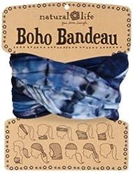 Natural Life Boho Bandeau - Bandana unisex, color azul, talla M