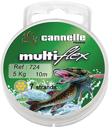 Cannelle Stahlvorfach Multiflex 1x7 Strands 10m 9kg - Vorfachschnur für Hecht