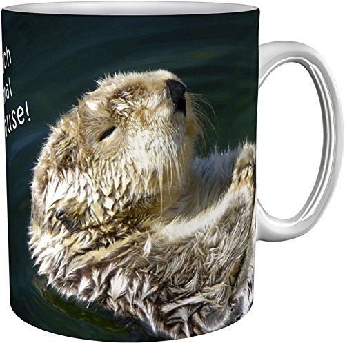 metALUm Kaffeebecher/Kaffeetasse / Otter/Geschenktasse Nicht Nur für Kollegen