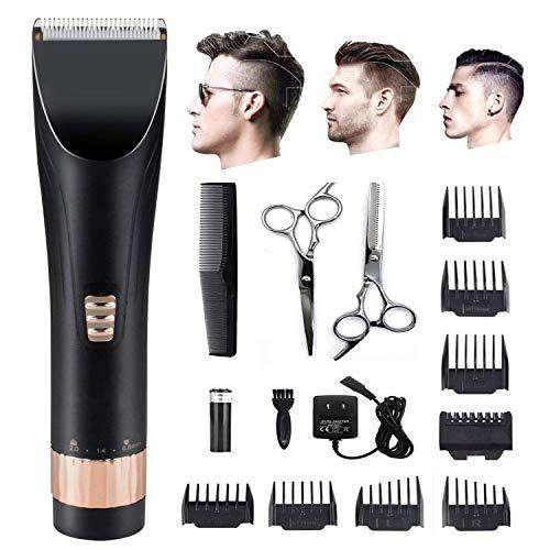 Professional Trimmer & Professional Hair Clippers Cordless Wiederaufladbare Haarschneider für Männer & Kids Precision Fade Clipper geladen mit Funktionen 5 Verstellbare Klinge + 8 führungskämme LCD