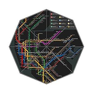 Nueva York mapa del metro de Auto paraguas poliéster Pongee paraguas automático plegable paraguas