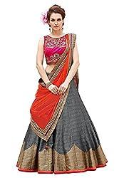 Fashion Dream Women's Banglori Silk Lehenga (FF-Kajal Grey__Grey_Free Size)