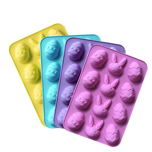 Easter Egg Silikon Schimmel Lebensmittelqualität Antihaft-Schokolade Süßigkeiten Schimmel handgemachte Seife Schimmel Eiswürfelschale Antihaft Backformen diy Werkzeug - 2 Stück