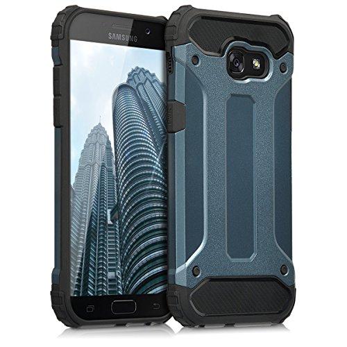 kwmobile Hybrid Outdoor Hülle für > Samsung Galaxy A5 (2017) < mit Transformer Design - Dual TPU Silikon Hard Case Handy Hard Cover in Dunkelblau Schwarz